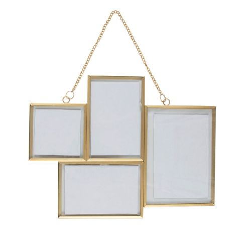 GOLD MULTI WALL HANGING PHOTO FRAME
